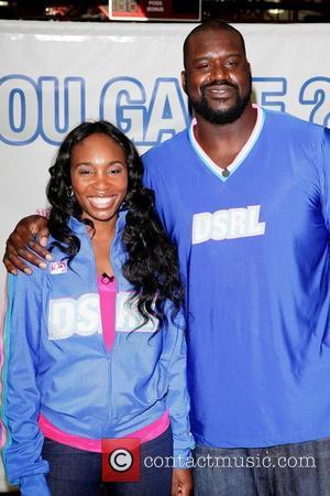 Venus Williams and Shaquille O'Neal help launch the Triple Double Oreo cookie game day challenge, held at The Sports Center...