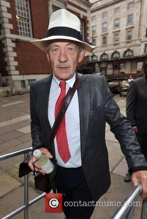 Sir Ian McKellen Memorial Service for Pam Gems held at Saint James Church, Piccadilly. London, England - 03.07.11