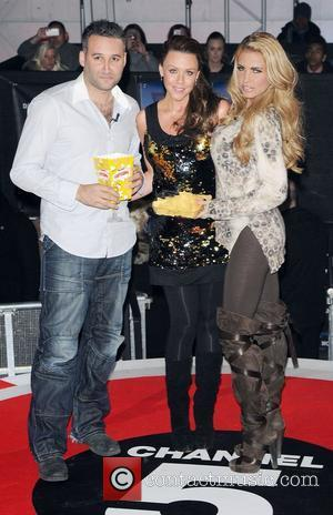 Dane Bowers, Michelle Heaton and Katie Price,  at the UK premiere of Paranormal Activity 3 held at Elstree Studios...