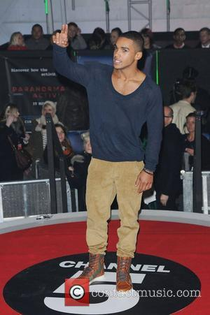 Lucien Laviscount,  at the UK premiere of Paranormal Activity 3 held at Elstree Studios - Red Carpet London, England...