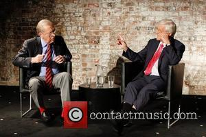 Sir Michael Parkinson and Sir David Frost at a media conference at the Sydney Theatre Company. Sydney, Australia - 01.02.11