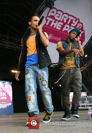 Aston Merrygold and Oritse Williams of JLS Party in the Park Leeds, England - 31.07.11