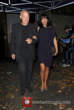 David Gilmour and Polly Samson,  at Paul McCartney and Nancy Shevell's Reception Party held at their home - Departures...