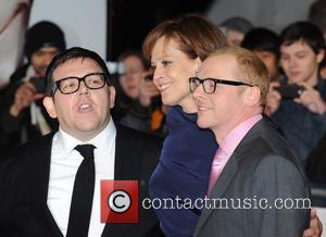 Nick Frost, Sigourney Weaver and Simon Pegg