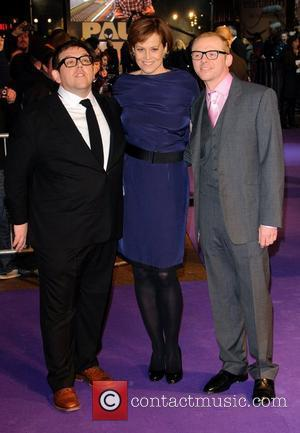 Nick Frost, Sigourney Weaver and Simon Pegg Paul - UK film premiere held at the Empire Leicester Square - Arrivals...