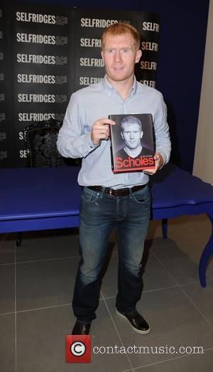 Manchester United's midfielder Paul Scholes at his book signing of his biograpy 'Scholes - My Story' at Selfridges in the...