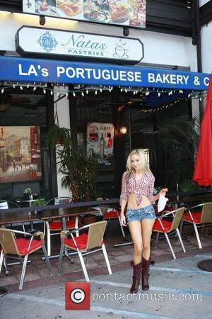 Paula Labaredas  sticks to her Portuguese roots while out and about in Studio City by paying a visit to...