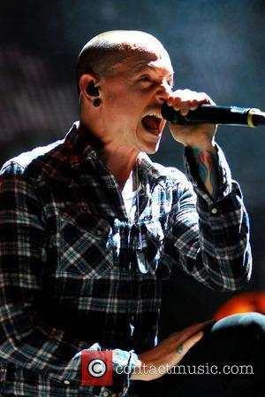Chester Bennington of Linkin Park,  performing at the United Center. Chicago, Illinois - 26.01.11