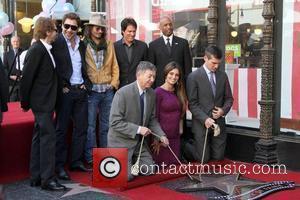 Jerry Bruckheimer, Javier Bardem, Johnny Depp, Penelope Cruz and Rob Marshall