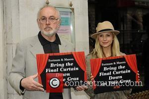 West End stars Peter Egan and Carley Stenson attend a photocall for PETA at Fortnum & Mason, urging them to...