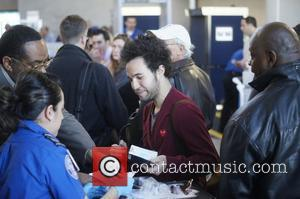 Fall Out Boy frontman Pete Wentz goes through security at LAX Los Angeles, USA - 05.02.11