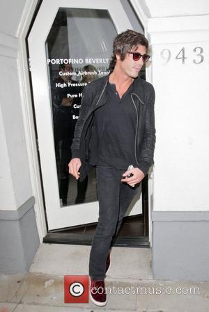 Brandon Davis leaves Madeo restaurant and then Portofino Tanning and Sun Center  Los Angeles, California - 16.09.11