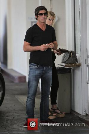Brandon Davis arriving to meet his friends for lunch at E. Baldi restaurant in Beverly Hills Los Angeles, California -...