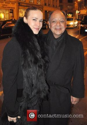 Cheech Marin leaving the 'Le Bristol' hotel with a companion Paris, France - 24.01.11