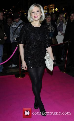 Abi Titmuss,  at the press night for 'My Trip Down The Pink Carpet' at the Apollo Theatre - Arrivals...