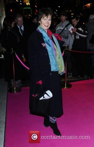 Celia Imrie,  at the press night for 'My Trip Down The Pink Carpet' at the Apollo Theatre - Arrivals...