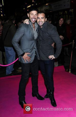 Jason Gardiner and Louie Spence,  at the press night for 'My Trip Down The Pink Carpet' at the Apollo...