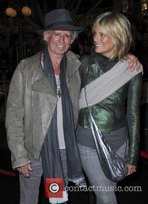 Keith Richards and Patti Hansen 'Pirates Of The Caribbean: On Stranger Tides' World Premiere held at Disneyland Anaheim, California -...