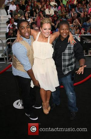 Lacey Schwimmer and Kyle Massey