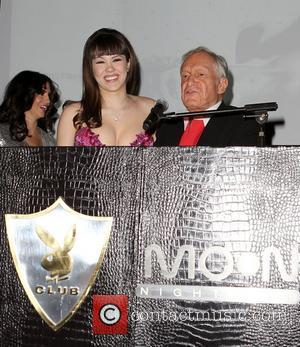 Claire Sinclair and Hugh Hefner Playboys Playmate of the Year 2011 at Moon Nightclub at The Palms Hotel and Casino...