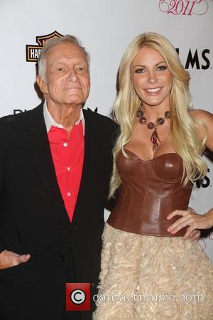 Hugh Hefner, Crystal Harris  Playboy's Playmate of the Year 2011 at Moon Nightclub at The Palms Hotel and Casino...
