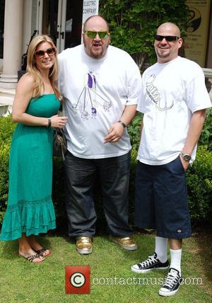 Jarrod Schulz and Brandi Schulz with Stephen Kramer Glickman Pre-MTV Movie Awards ECO Gift Lounge at a private residence Los...