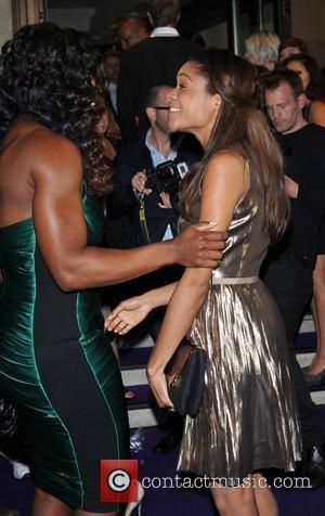 Naomie Harris and Serena Williams