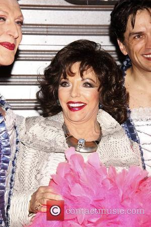 Joan Collins  Real Divas meet Broadway Divas backstage at the musical 'Priscilla: Queen of the Desert' at the Palace...