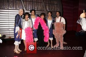 Joan Collins, David Johnson, Jackie Collins and Nick Adams