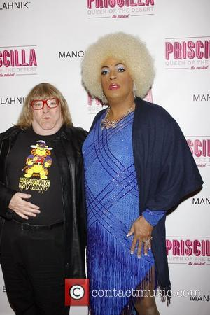 Bruce Vilanch and Kevin 'Flotilla DeBarge' Joseph   Opening night of the Broadway musical production of 'Priscilla Queen Of...