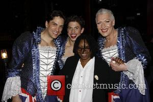 Will Swenson, Nick Adams, Tony Sheldon and Whoopi Goldberg Real Divas meet Broadway Divas backstage at the musical 'Priscilla: Queen...