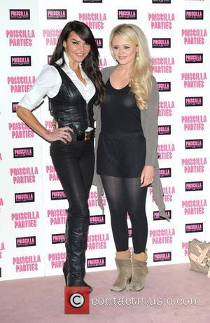 Lizzie Cundy and Emily Atack Priscilla Parties - launch held at The Palace Theatre, Shaftesbury Avenue - Arrivals. London, England...