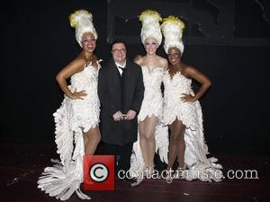 Jacqueline B. Arnold, Nathan Lane, Ashley Spencer and Anastacia McCleskey Celebrities backstage at the musical 'Priscilla: Queen of the Desert'...