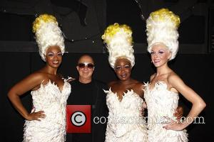 Jacqueline B. Arnold, Paul Shaffer, Anatasia McClesky and Ashley Spencer  'It's Raining Men' composer, Paul Shaffer, visits the cast...