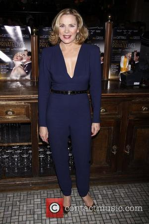 Kim Cattrall Broadway opening night after party for 'Private Lives' held at Bond 45 Times Square restaurant New York City,...