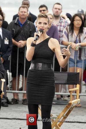 Kim Kardashian, Heidi Klum, Michael Kors and Nina Garcia