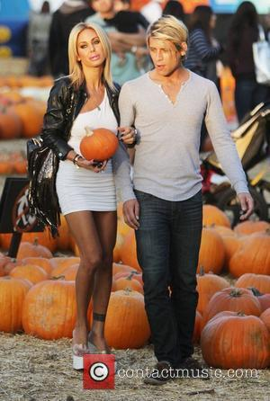 Shauna Sand and a friend  visit Mr. Bones Pumpkin Patch in West Hollywood  Los Angeles, California - 21.10.11