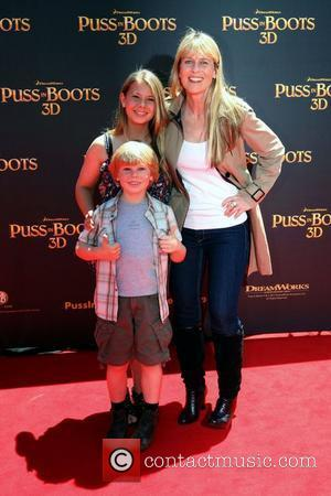 Terri Irwin, Bindi Irwin and Bob Irwin The premiere of 'Puss In Boots 3D' held at the Entertainment Quarter Sydney,...