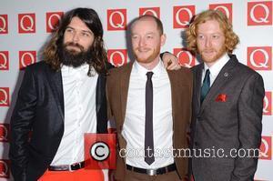 Simon Neil , Ben Johnston and James Johnston of Biffy Clyro The Q Awards 2011 held at Grosvenor House hotel...