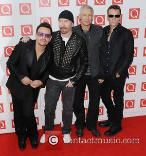 The Edge, Bono, Adam Clayton, Larry Mullen of U2  The Q Awards 2011  London, England - 24.10.11