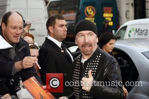 The Edge of U2 The Q Awards 2011 held at Grosvenor House hotel - Outside Arrivals London, England - 24.10.11