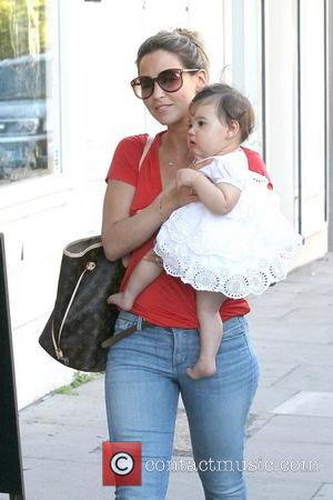 Rachel Stevens in Primrose Hill with baby Amelie London, England - 28.09.11
