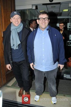 Simon Pegg and Nick Frost at the BBC Radio 1 studios London, England - 08.02.11