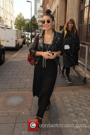 Yasmin Shahmir leaving the Radio 1 studios. London, England - 13.09.11