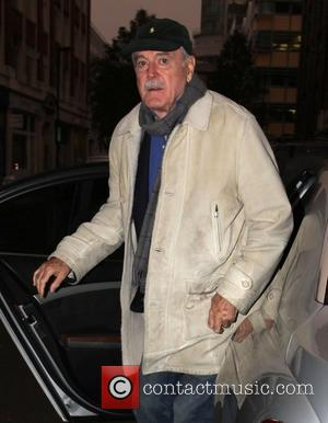 John Cleese arrives at the BBC Radio 1 studios ahead of his appearance on the Chris Moyles show London, England...