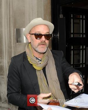 Michael Stipe outside the BBC Radio 2 studios London, England - 02.11.11