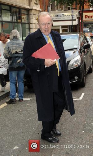Sir David Frost outside the BBC Radio 2 studios London, England - 02.11.11