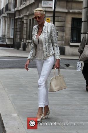 Brigitte Nielsen outside the BBC Radio Two studios London, England - 18.05.11