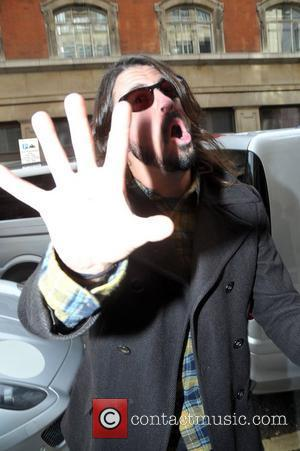 Dave Grohl of the Foo Fighters   outside the BBC radio Two  studios  London, England - 25.02.11