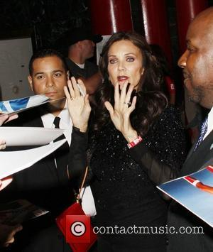 Lynda Carter  Official launch party for the most anticipated video game of the year 'Rage' at Chinatown's Historical Central...